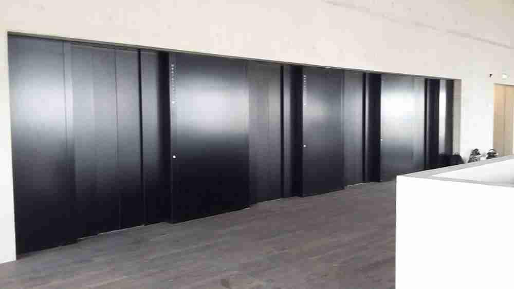 Painting Lift Doors