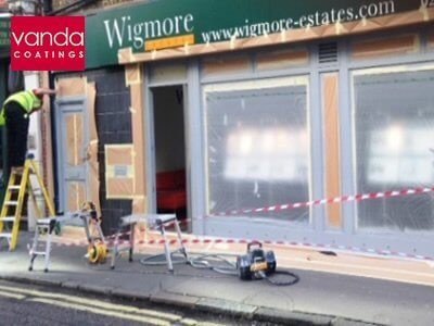 professional shopfront spraying