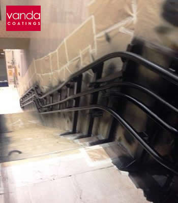 Escalator Spraying