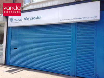 roll shutter door spraying