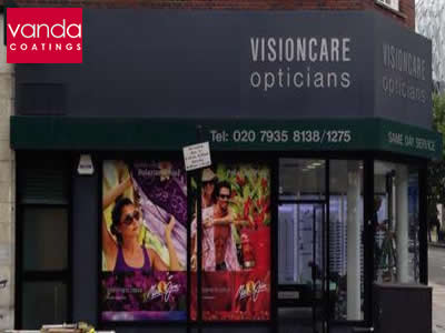 vision care shop front spraying