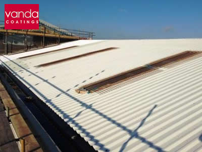 industrial roof spraying