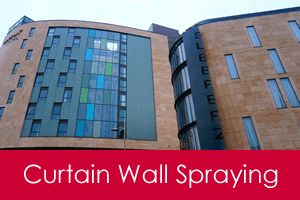 curtain walling spraying service