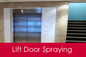 lift door spraying service