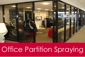 office partition spraying