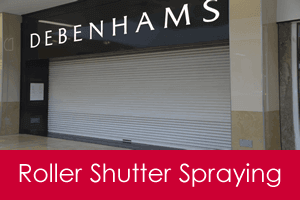roller shutter door spraying service