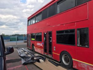 London Bus Before Spraying